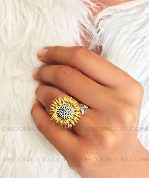 انگشتر گل آفتاب گردان