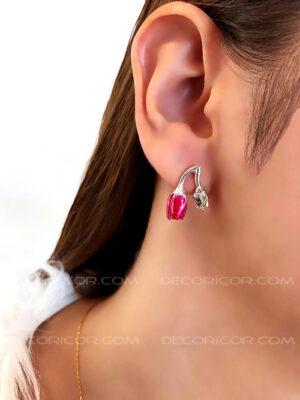 گوشواره گل لاله