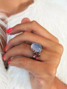 انگشتر عقیق آبی