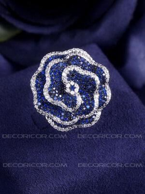 انگشتر گل رز آبی