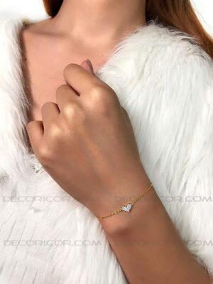 دستبند نقره قلب