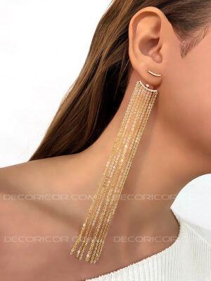 گوشواره زنجیر بلند
