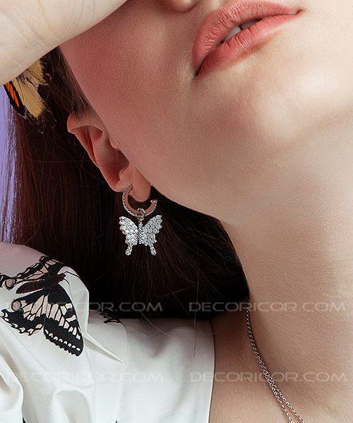 گوشواره پروانه میلکی