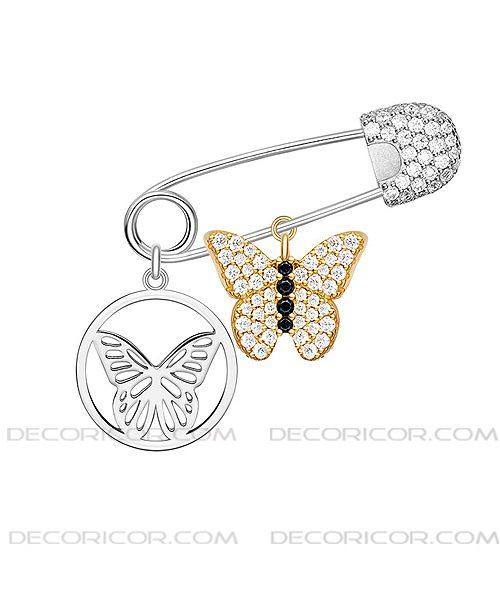 گوشواره سنجاق و پروانه