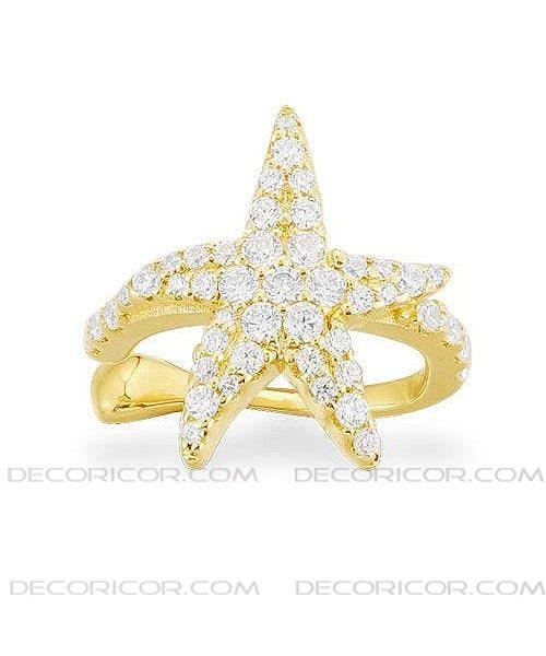 گوشواره کلیپسی ستاره طلایی