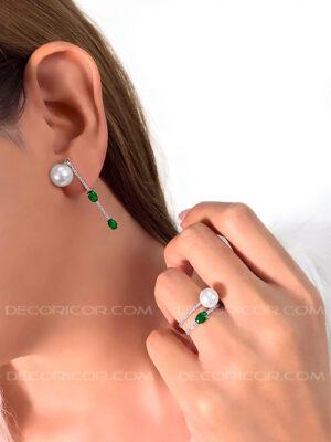 گوشواره سبز مروارید