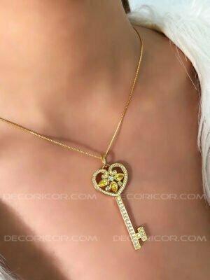 گردنبند کلید قلب