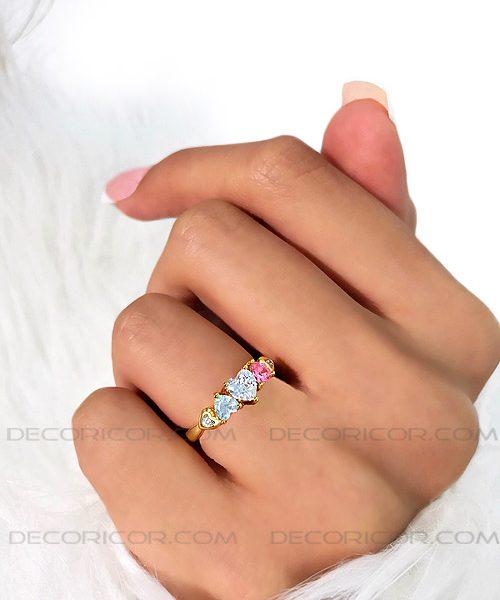 انگشتر طلایی قلب