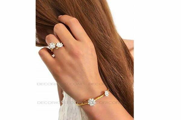 دستبند گل نیلوفر 2