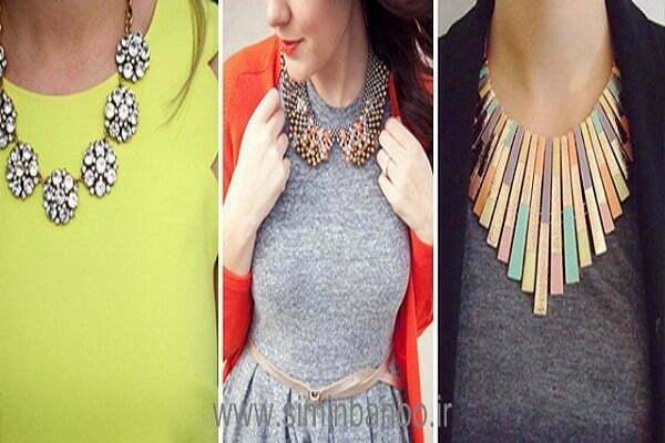 گردنبند مناسب لباس یقه گرد کدام است؟