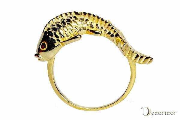 انگشتر نقره ماهی