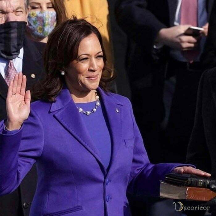 استایل و جواهرات کامالا هریس در مراسم تحلیف جو بایدن رئیس جمهور جدید آمریکا 1